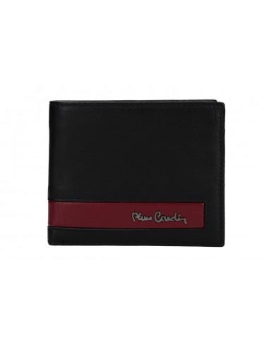 Mini portafoglio uomo PIERRE CARDIN nero in pelle con portamonete