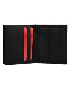 Mini portafoglio uomo verticale PIERRE CARDIN pelle portamonete e patta