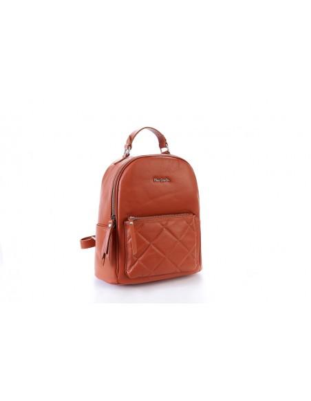Savage 1817 Zaino Pierre Cardin Tasca Anteriore Trapuntata Vera Pelle Made in Italy