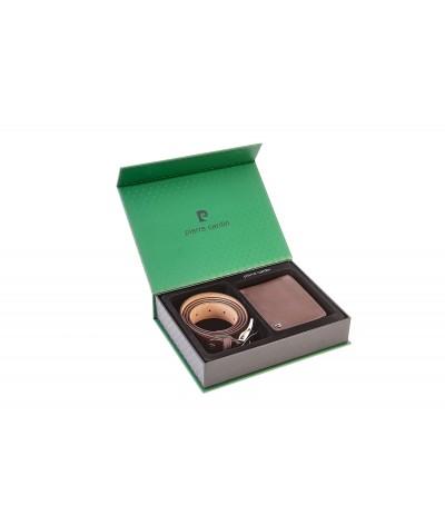 Confezione regalo in cartone uomo Pierre Cardin portafoglio e cintura