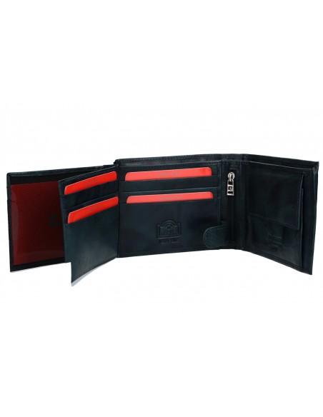 Portafoglio uomo - pelle portamonete e patta laterale 324A TILAK12